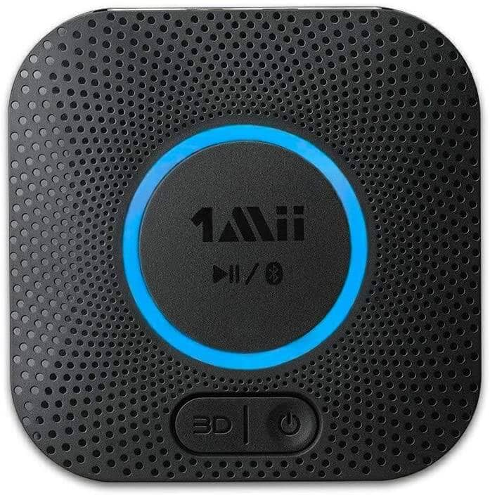 1Mii Bluetooth 5.0 Receiver with 3D Surround and aptX Low Latency (Black) - $18.29 + Free Shipping
