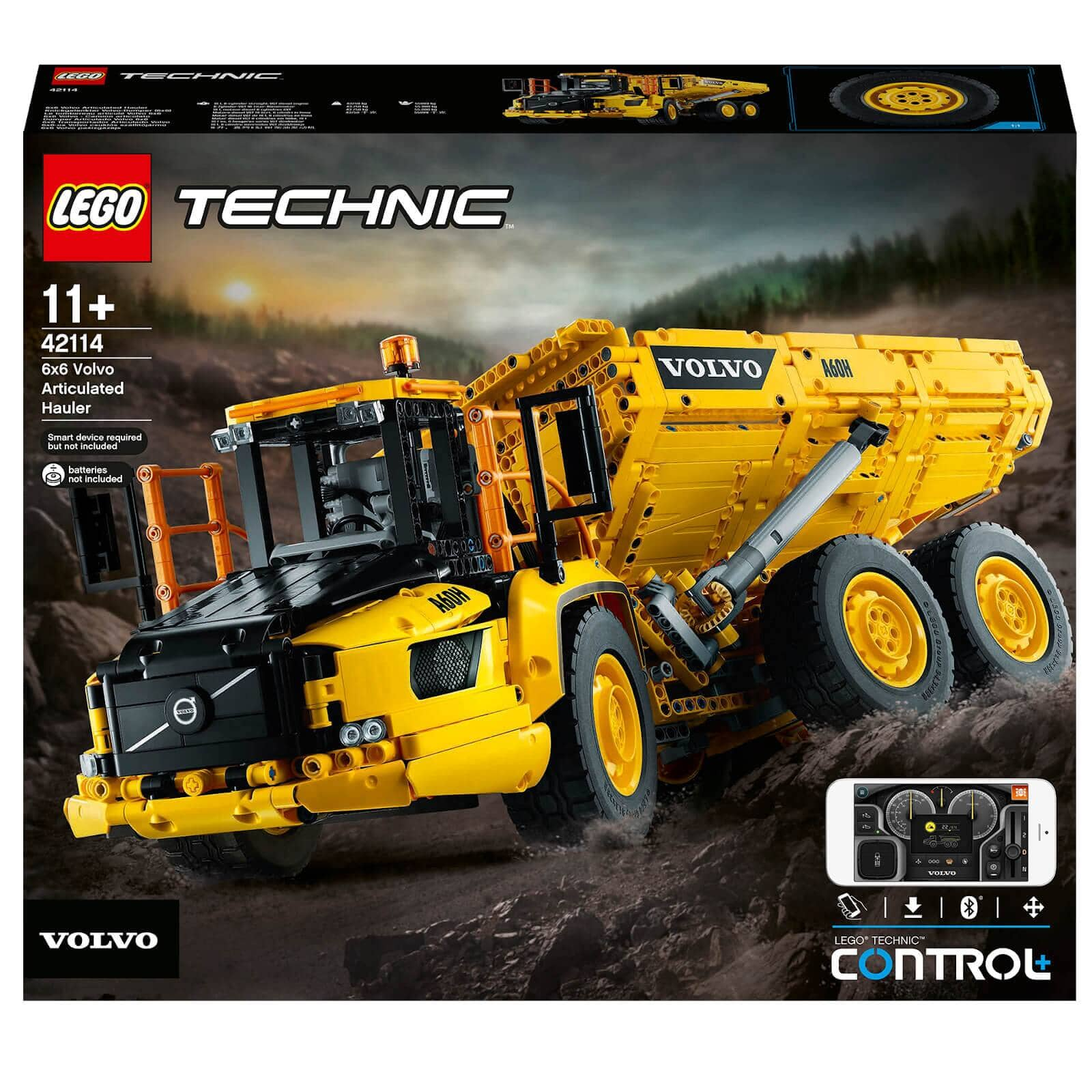 LEGO Technic: 6x6 Volvo Articulated Hauler RC Truck (42114) $214.99 with Free Shipping