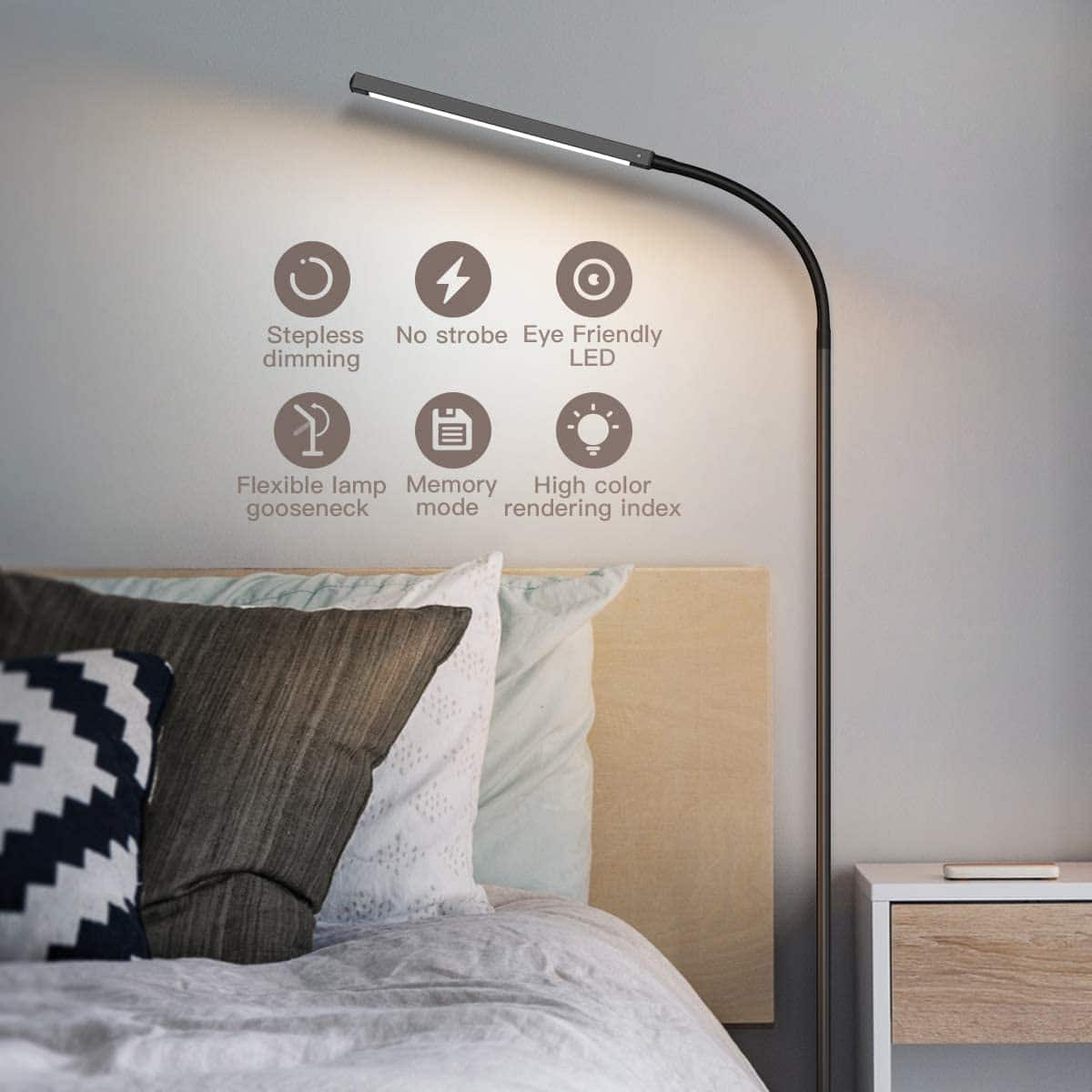 Dodocool 2-in-1 Multifunctional LED Floor Lamp $27.99 + Free Shipping