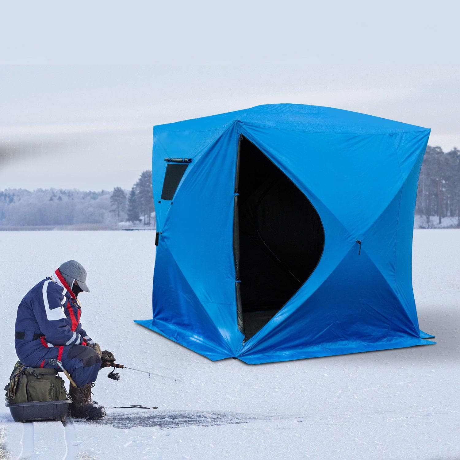 Outsunny 4 Person Pop-Up Ice Fishing Shelter $94.99 + Free Shipping