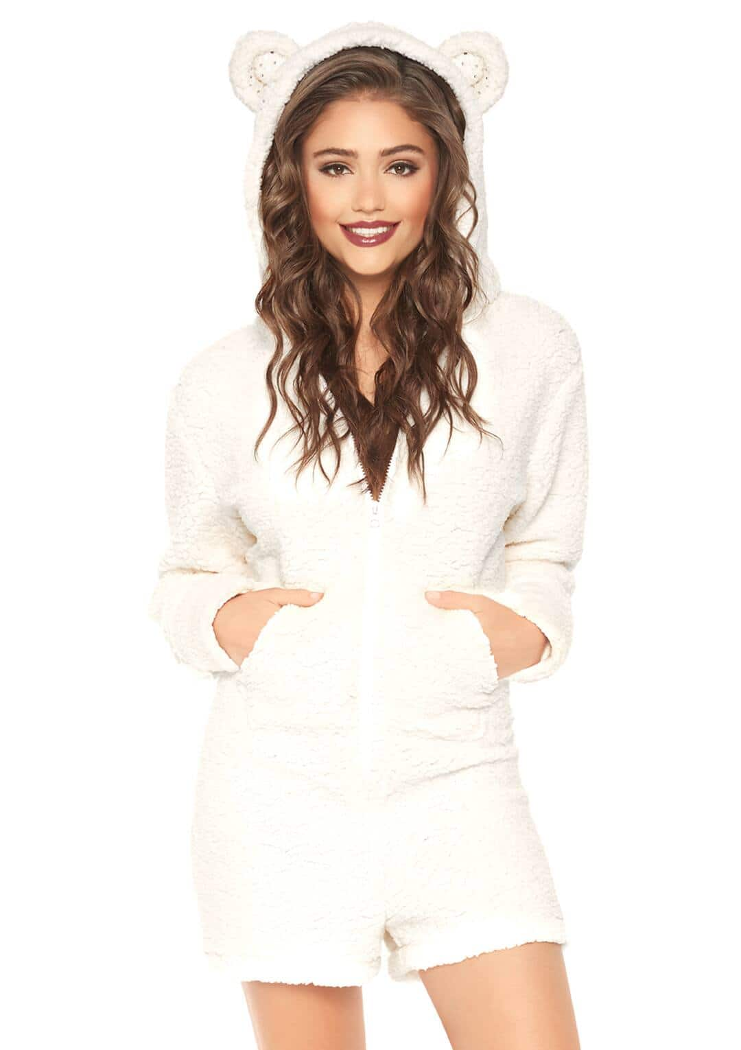 Up to 30% Off All Sale Items on Pixiesparkleshop.com: Share : Leg Avenue Cuddle Polar Bear Ultra Soft Romper With Hood for $27.99