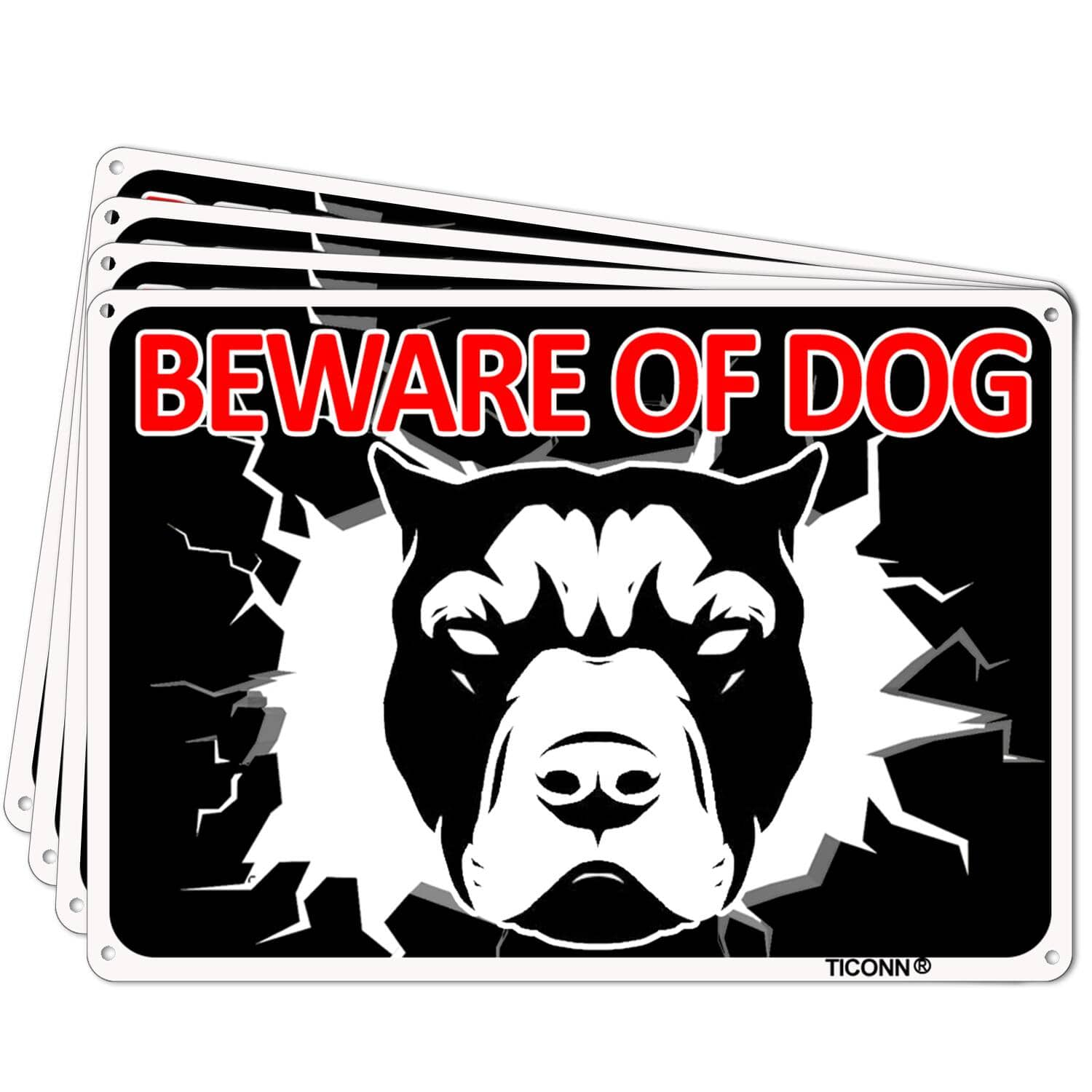 TICONN Beware of Dog/You're On Camera Sign 2pk/4pk from $5.59