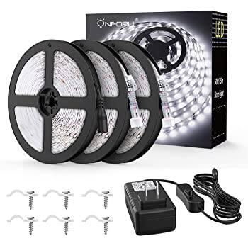 Onforu 49.2Ft Waterproof LED Strip Lights (12V 6000K Cool White 2835 LEDs Light) - $17.99 + Free Shipping