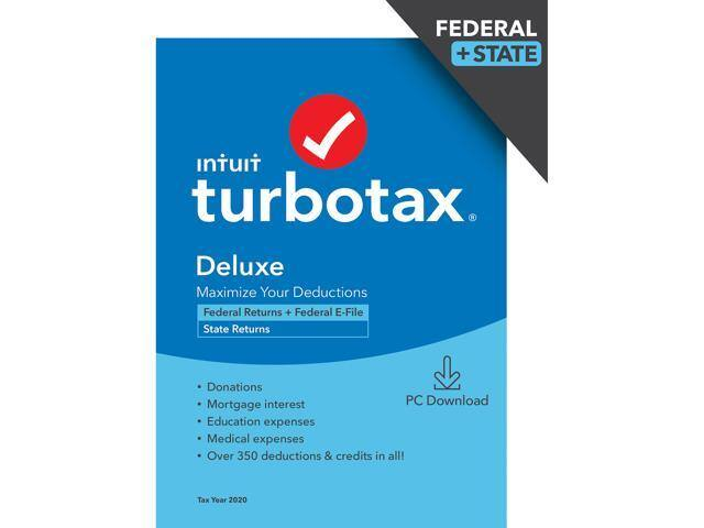 Turbo Tax Home & Business / Deluxe 2020 + $15 Doordash Gift Card from $49.99