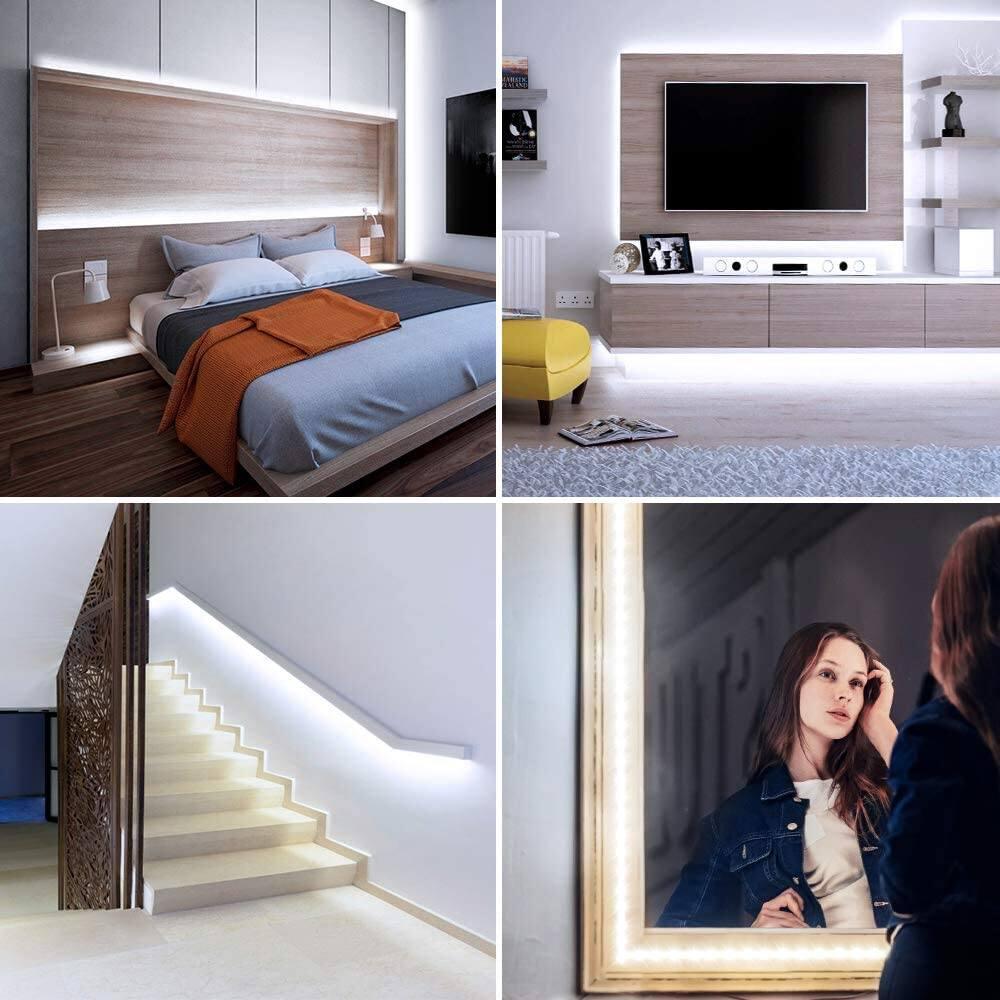 Onforu 16.4ft LED Strip Light Dimmable Daylight White for $8.99 & 32.8ft LED Strip Light Dimmable Warm White for $13.19 + FSSS