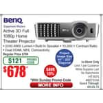 Benq HT1075 - $678 with personal promo code