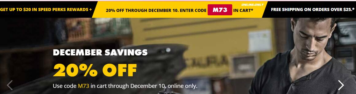 Advance Auto 20% online + additional $20 coupon for batteries