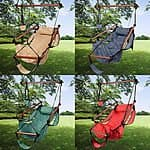 Outdoor Indoor Hammock Hanging Chair Air Deluxe Sky Swing Chair Solid Wood 250lb: $24.99