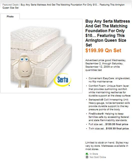 Biglots B&M: Serta Mattress Set - From - Twin: $109.99; Full: $199.99; Queen: $199.99 (Deal alive again - Oct 18-31)