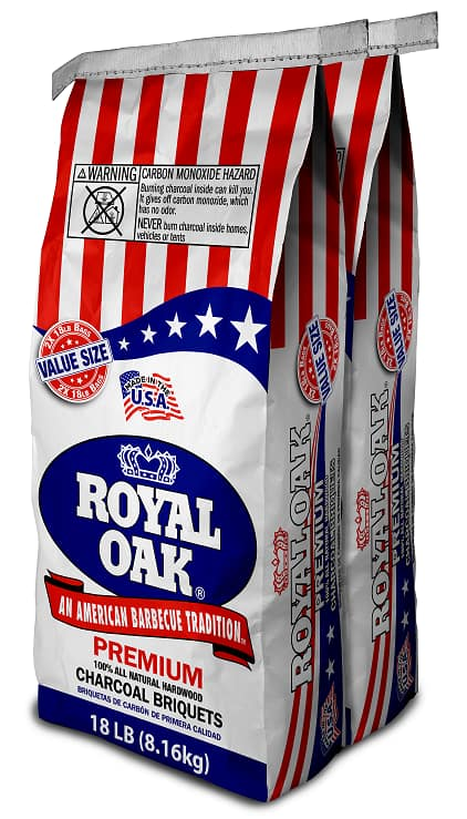 Royal Oak All Natural Hardwood Premium Charcoal Briquettes 18 lb. 2-pack (36 lbs.) $8.88 at Walmart