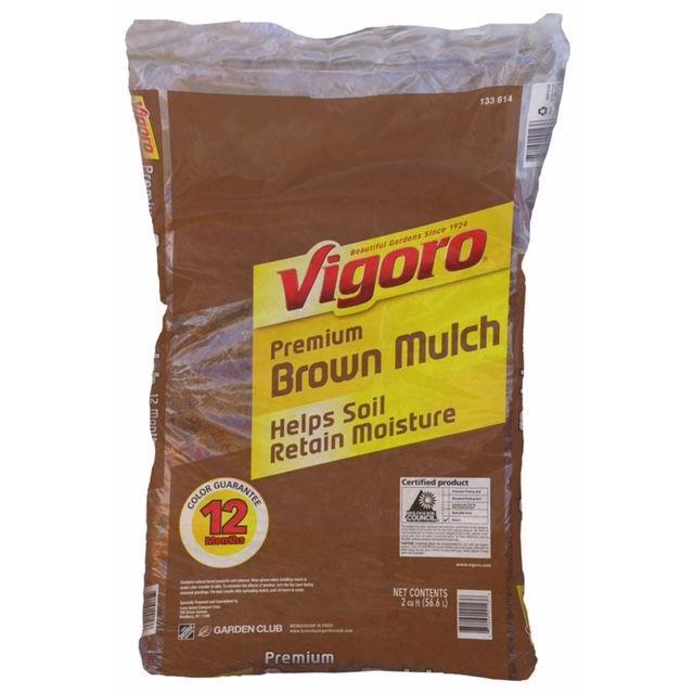 Home Depot: Vigoro 2 cu. ft. Brown/Red/Black Mulch 5/$10