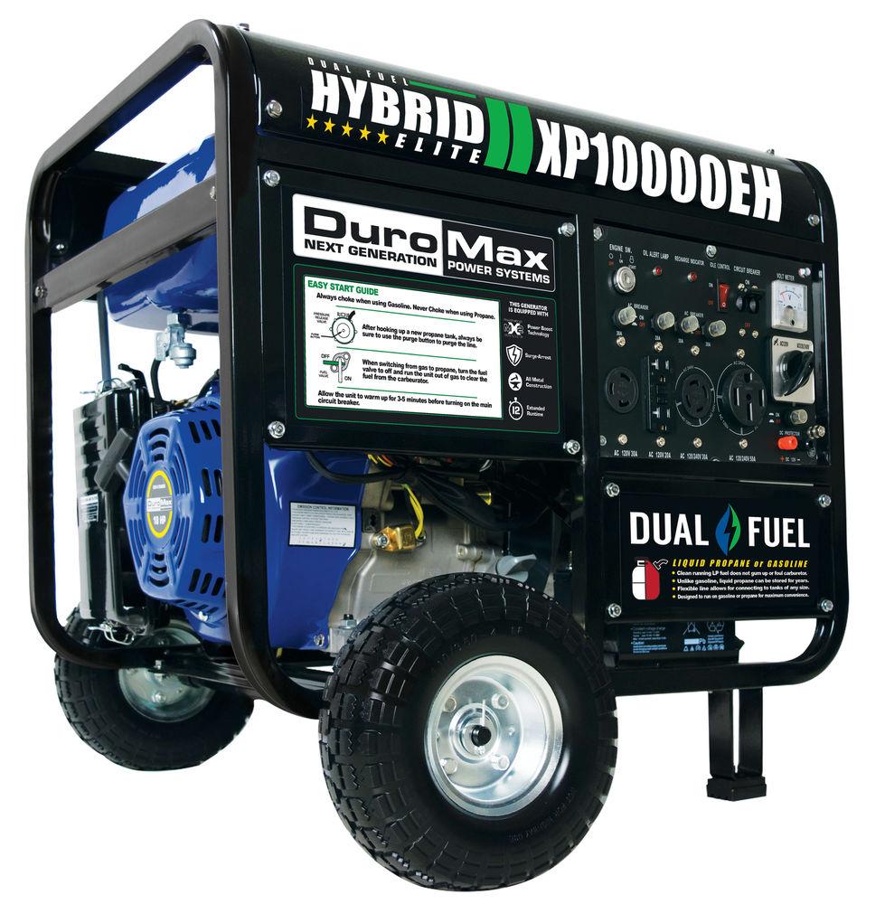 DuroMax 10000 Watt Hybrid Dual Fuel Portable Gas Propane Generator - RV Standby $499