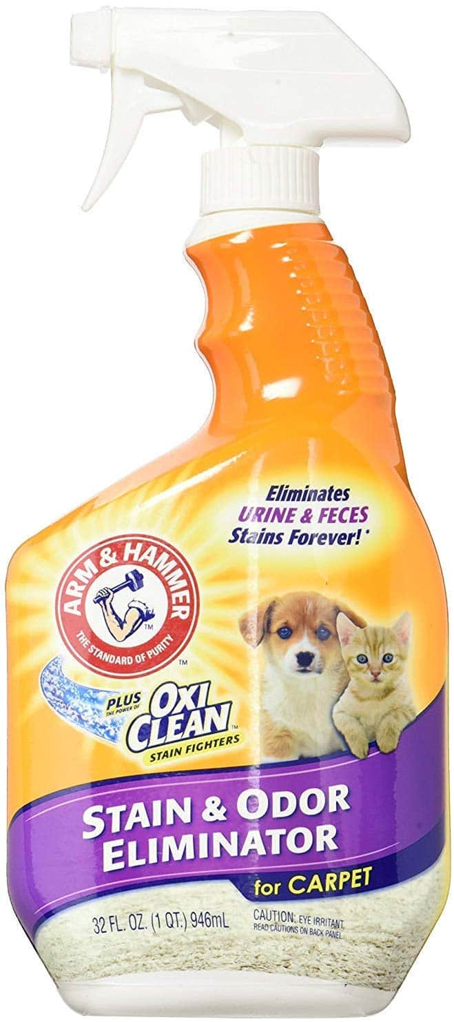 Arm & Hammer Pet Stain and Odor Eliminator, 32 Ounce (Pack of 2)  $5.14