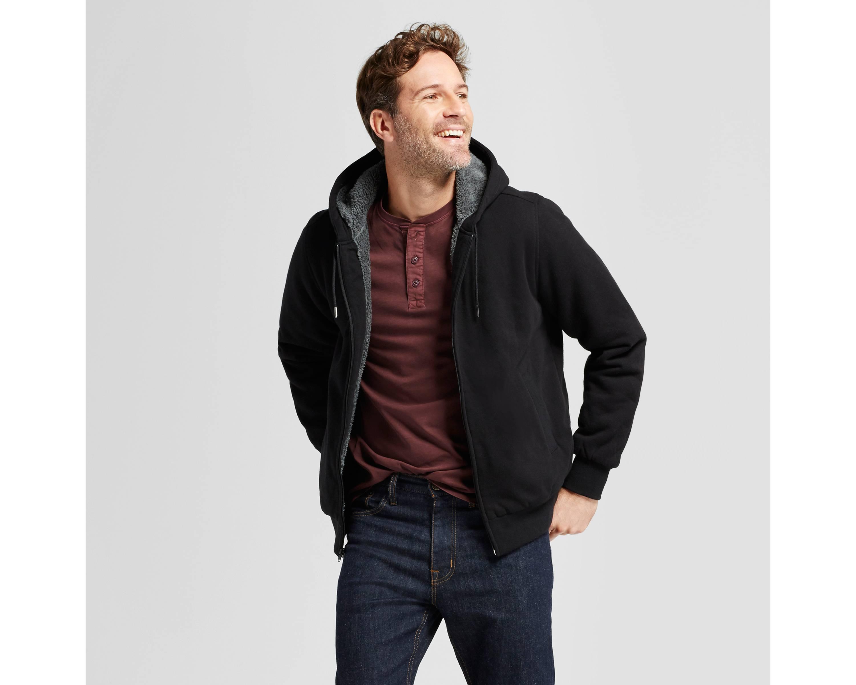 Goodfellow & Co Men's Sherpa Fleece Jacket $15 at Target