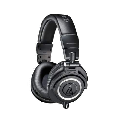 Audio-Technica ATH-M50x Professional Studio Monitor Headphones [Black] $129