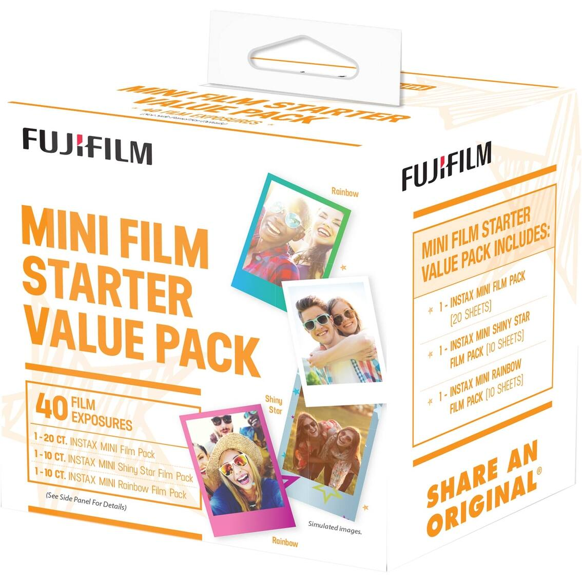 FujiFilm Instax Mini Film Starter Kit 40 Pk (20 regular, 10 rainbow, 10 star) - $17.99 shipped - AAFES