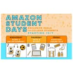 Amazon Student Days 10/7/15 thru 10/9/15 for Students w/ .edu Emails Only