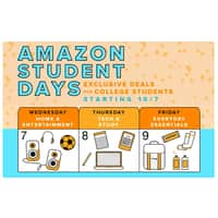 Amazon Deal: Amazon Student Days 10/7/15 thru 10/9/15 for Students w/ .edu Emails Only