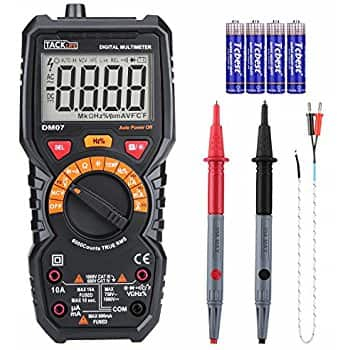 Tacklife Digital Multimeter, Tacklife DM07 TRMS 6000 Counts Auto-Ranging NCV $28.97 + Free Shipping w/ Prime