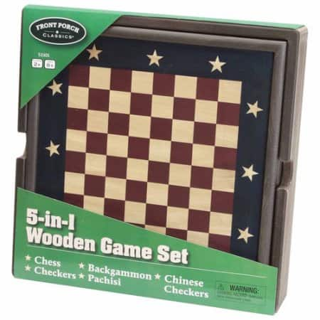 5 in 1 wooden game set at Walmart $14.71 was $49.99 free p/u or ship w/$35