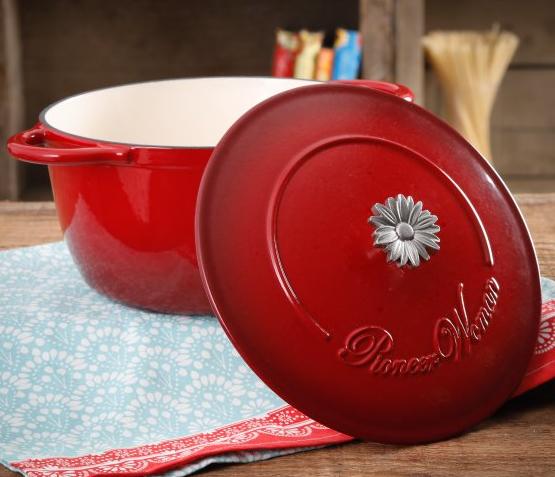 Walmart YMMV Pioneer Woman 5-Quart Dutch Oven Red $25