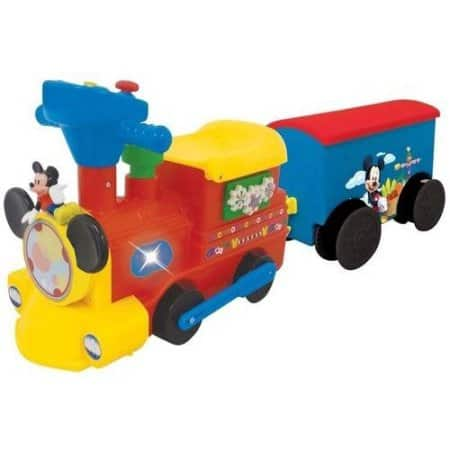 Disney Mickey Mouse 2-in-1 Battery-Powered Train with Trailer $16