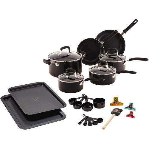 Guy Fieri 25-Piece Nonstick Aluminum Cookware Set  $30.68