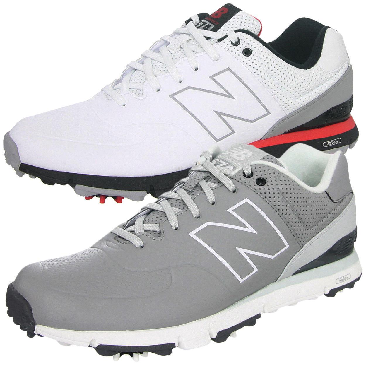 New Balance NBG574 Men's Microfiber Leather Golf Shoes Black/Grey/White  $52.99