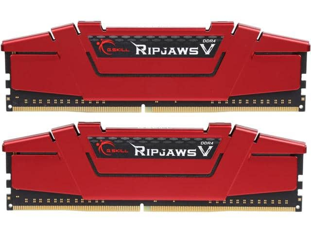 G.SKILL Ripjaws V Series 16GB (2 x 8GB) DDR4 3200 (PC4 25600)  F4-3200C16D-16GVRB $141.99