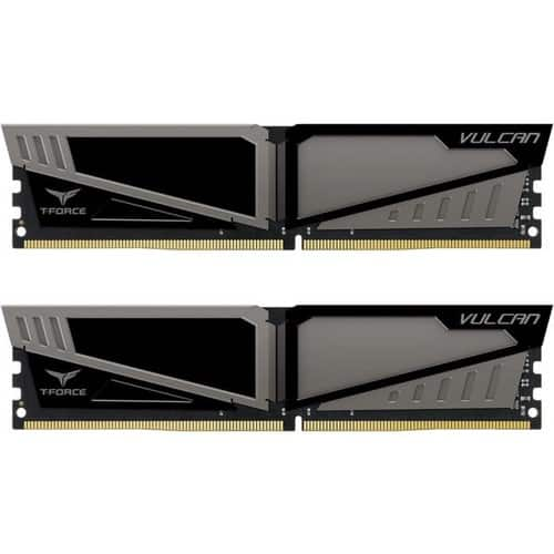 Team Vulcan 16GB (2 x 8GB) 288-Pin DDR4 SDRAM DDR4 2400 (PC4 19200) TLGD416G2400HC14DC01 $130