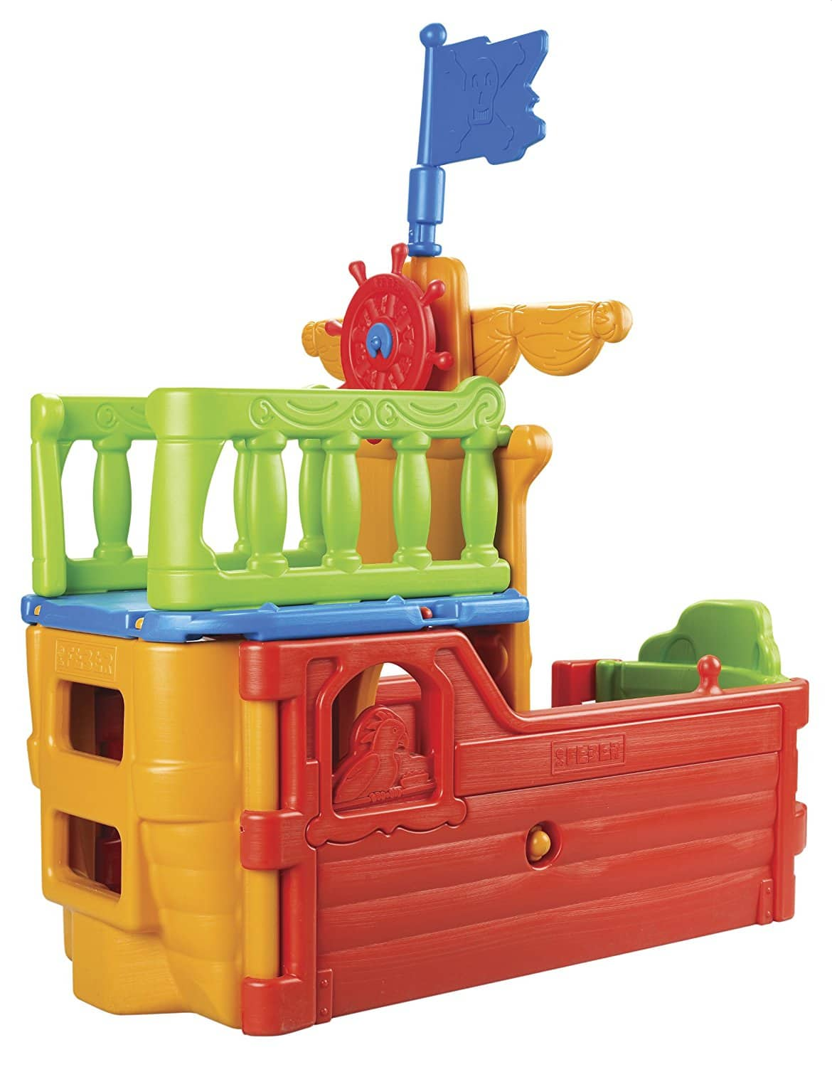 ECR4Kids Indoor/Outdoor Buccaneer Play Boat with Pirate Flag $135