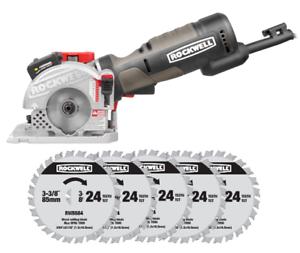 RK3501 Rockwell 4.0 Amp Wood Plunge Saw + (5) Cutting Blades $31.99 AC