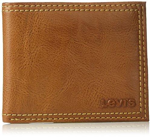 Levi's Men's Extra Capacity Leather Slimfold $9