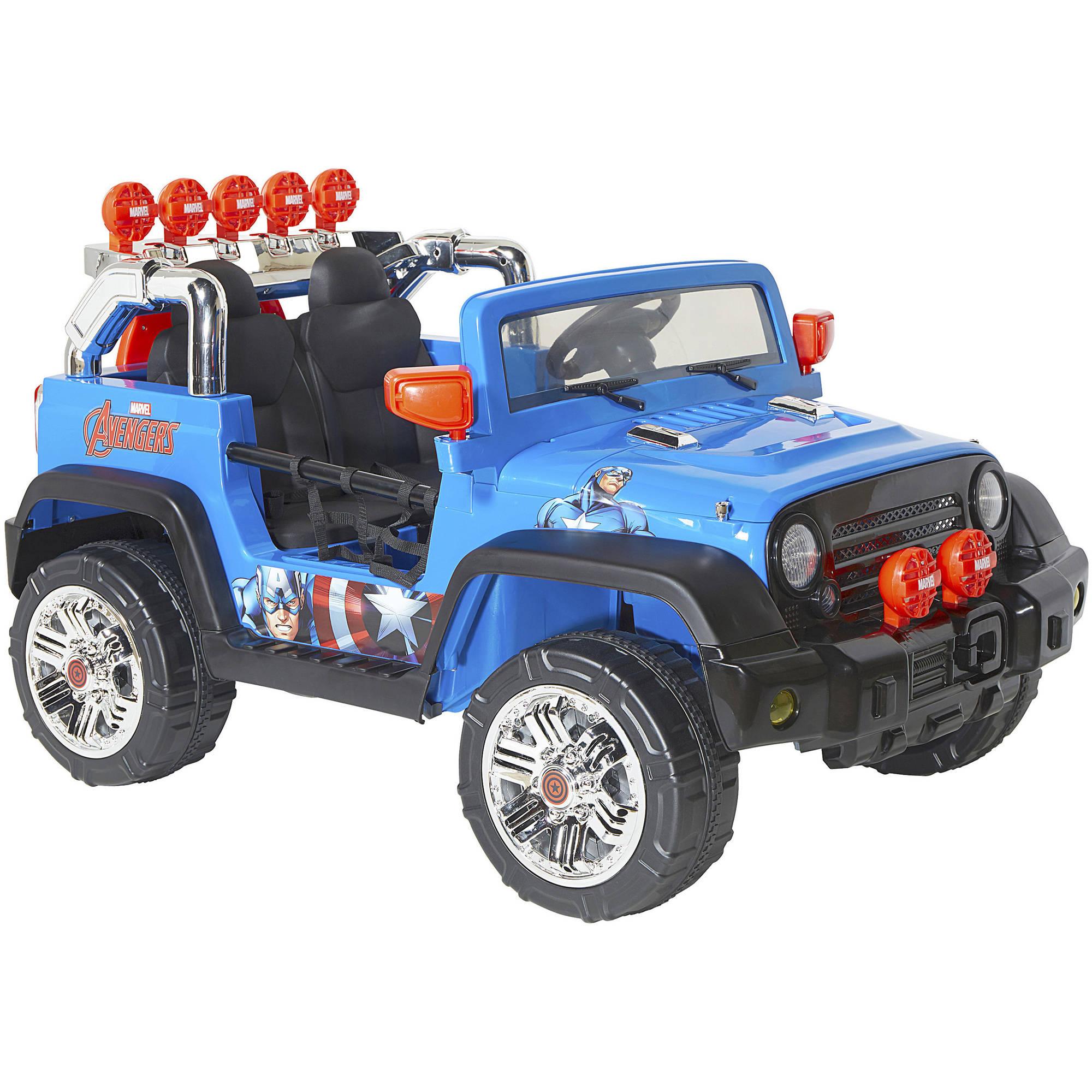 Dynacraft Avengers 12V 4X4 Ride-On, Blue $159