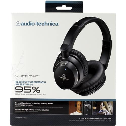 Audio-Technica ATH-ANC9 QuietPoint Noise-Cancelling Headphones $119