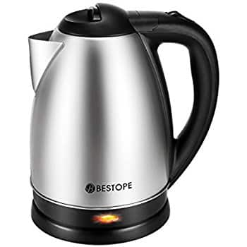 BESTOPE Electric Kettle Cordless Tea Boiler with 2.0 L High Capacity $12.99 w possible FS @ Amazon