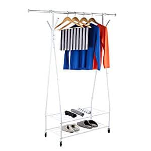 Rolling Garment Rack with Shelves $23.49