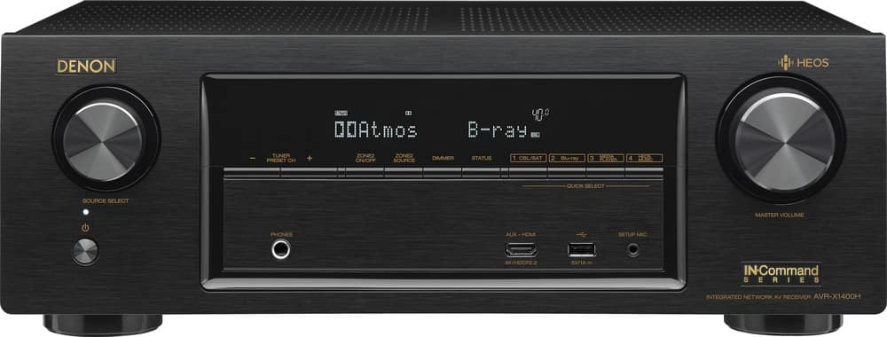 Denon AVR-X1400H Receiver $299 at Crutchfield, add HEOS 5