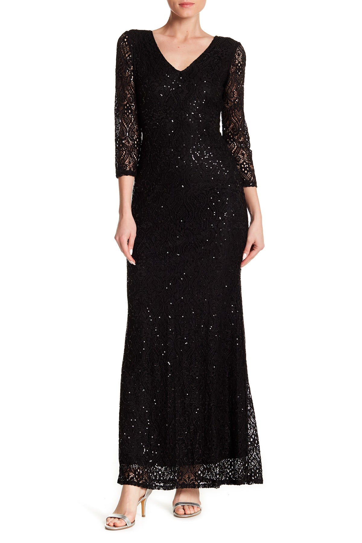 15b476f44c3a Nordstrom Rack Lace sequin Gown    25.35 - Slickdeals.net