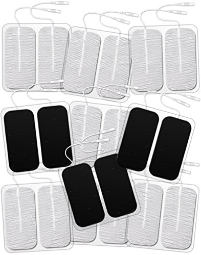 "DONECO TENS Unit 2""x4"" Rectangular 20-Pack Electrode Pads for TENS Therapy $12.59 AC @ amazon"