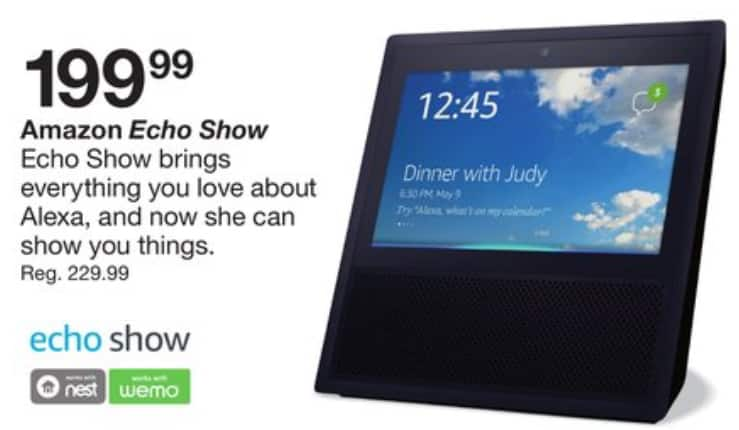 Echo Show $170 AC Fred Meyer B&M October 8 & 9 only