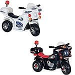 Lil' Rider SuperSport Three Wheeled Motorcycle Ride-on $46.99 + FS (Black and White colors)