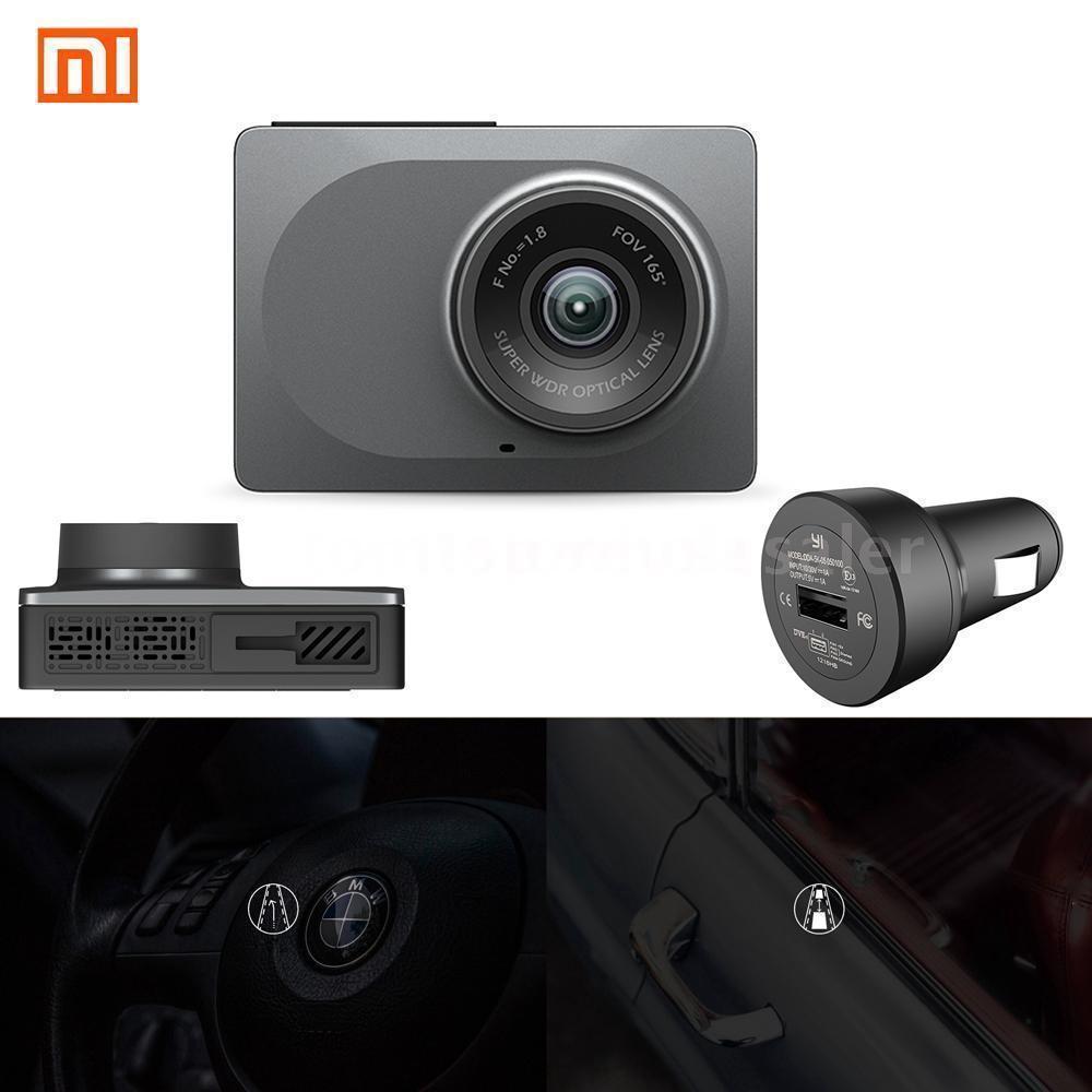"""Xiaomi Yi 1080P 2.7"""" Car Dash Camera Wifi $59.99"""