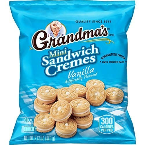 Grandma's Sandwich Cookies, Vanilla Creme Minis, 2.12 Ounce (Pack of 60) w/S&S $16.39
