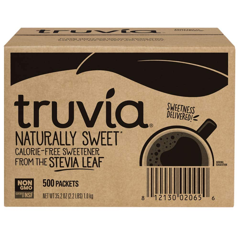 Truvia Natural Stevia Sweetener Packets, 500 count $15.39