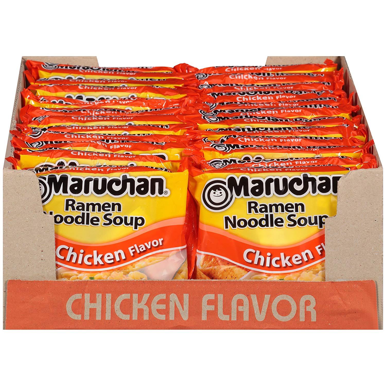 Prime Members: Maruchan Ramen Chicken, 3.0 Oz, Pack of 24 $3.84