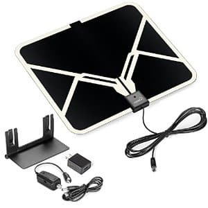 View TV Flat HD Digital Indoor Amplified TV Antenna - 65 Miles Range $15.99 @Amazon +FS