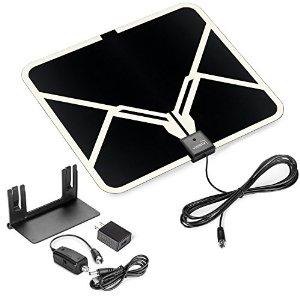 View TV Flat HD Digital Indoor Amplified TV Antenna - 65 Miles Range $15.99 @Amazon +FS