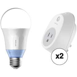 TP-Link LB120 800 Lumen Smart LED Bulb + HS100 Smart Plug (2-Pack) $54.99 @ bhphotovideo +FS