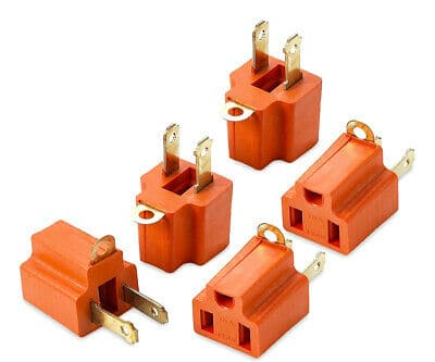 3-Prong to 2-Prong Polarized Grounding AC Power Plug Adapter 5-PACK $2.89 @Ebay +FS